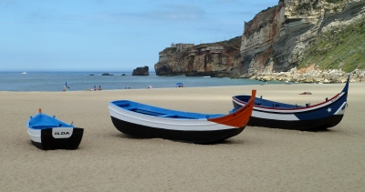 Nazare beach and boats