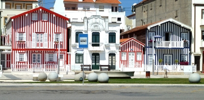 Costa Nova striped houses