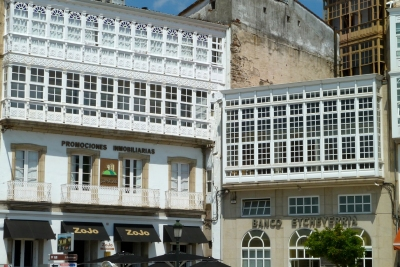 Betanzos glass galleried buildings