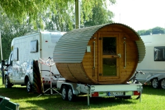 Motorhome with sauna at Robel