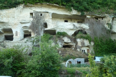 Troglodyte houses at Roches l'Eveque