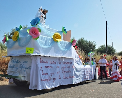 a wedding float