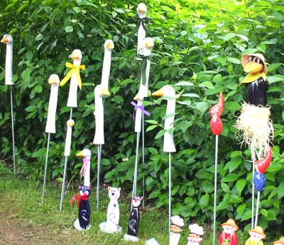 Bad Tolz garden festival ornaments