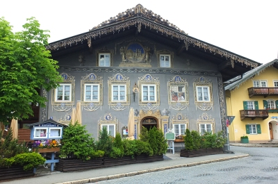 Garmisch-Partenkirchen traditional painted building