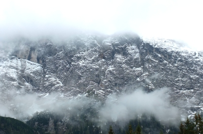 Garmisch cloudy mountain