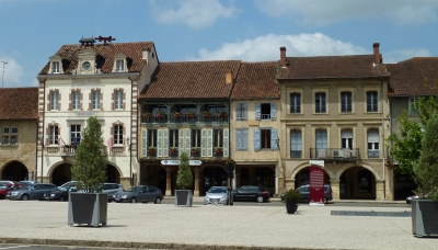 Marciac town square