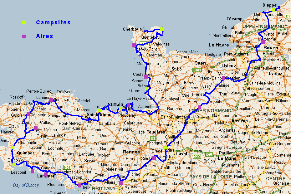 Brittany route 2019