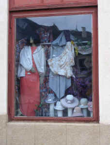 Jicin old-fashioned ladies clothes shop window
