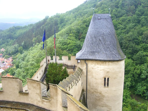 Karlstejn castle View from ramparts