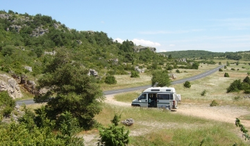 Parked up on the Causse de Larzac