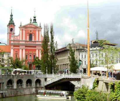Ljubljana city centre