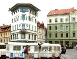 Ljubljana centre with petite train