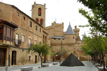 Olite Castle and town square