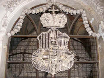 coat of arms made from bones