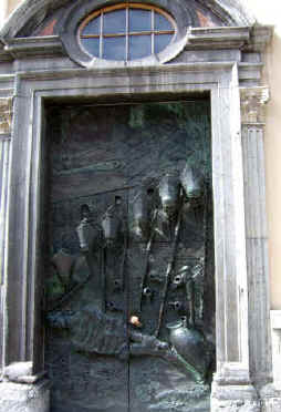 Papal door at St Nicholas's Cathedral