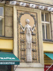Prague art deco shopfront
