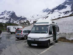 Parked at the Simplon Pass