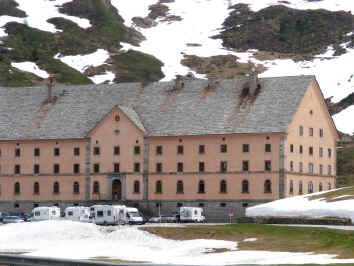 Simplon Pass - hospice and motorhomes